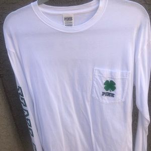 PINK St. Patricks Day long sleeve - size small
